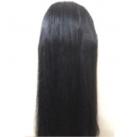 Synthetic hair wig with front flick